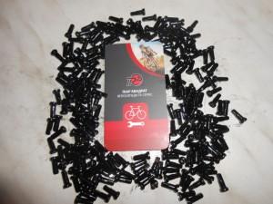 Ніпеля нові чорні, латунь, 2 х 13 мм