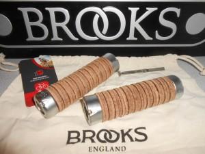 Шкіряні гріпси Brooks Plump Grips brown - 2080 грн