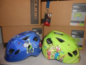 Шолом CUBE Pebble XS, S дитячий, синій, зелений - 650 грн