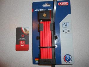 Замок ABUS BORDO 5700 UGRIP RED SH - 2200 грн
