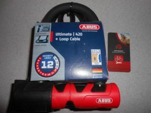 Замок ABUS 420/150 ULTIMATE 140 ММ + COBRA 10/120 - 2370 грн