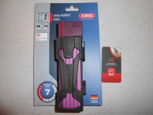Замок ABUS BORDO 5700 UGrip SH Purple фіолетовий - 2030 грн