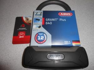 Замок ABUS 640 Granit Plus 150 мм чорний - 3050 грн