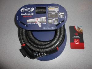 Велозамок BBB CodeLock BBL-45 15x1800 мм - 450 грн